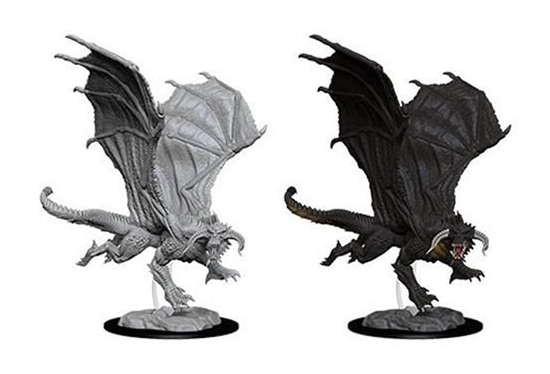 ROLEPLAYING MINIATURES -  YOUNG BLACK DRAGON -  NOLZUR'S MARVELOUS MINIATURES