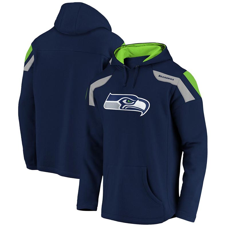 SEATTLE SEAHAWKS -  NAVY PULLOVER WITH HOOD
