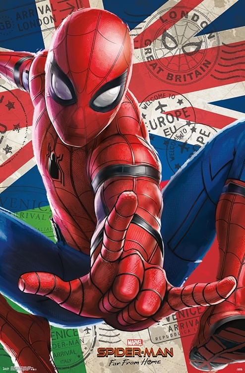 Spider Man Far From Home Poster Comics