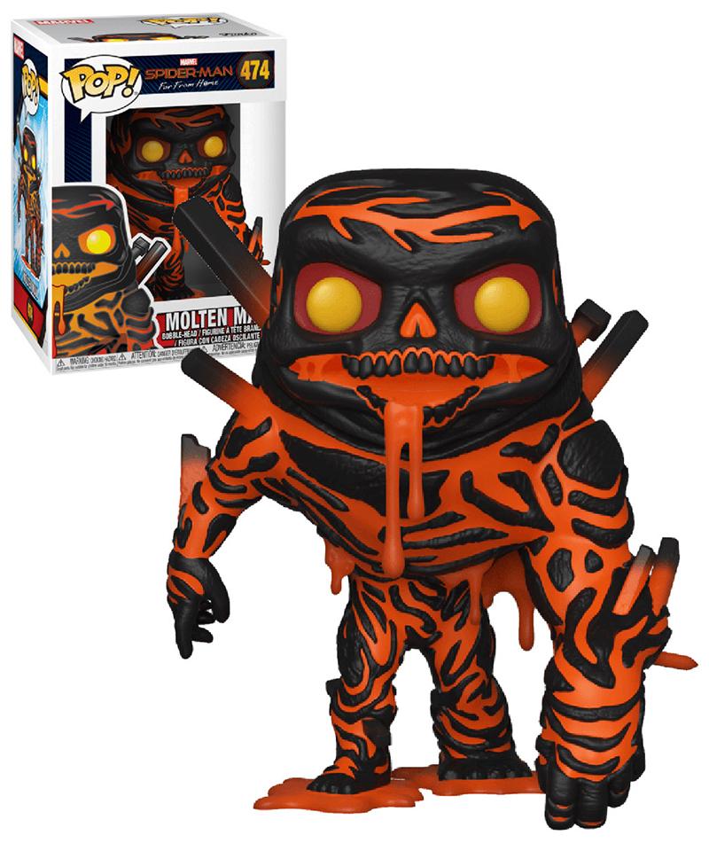 SPIDER-MAN -  POP! VINYL BOBBLE-HEAD OF MOLTEN MAN (4 INCH) -  SPIDER-MAN : FAR FROM HOME 474