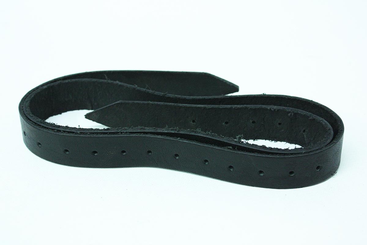 STRAP -  LEATHER STRAP - BLACK (40