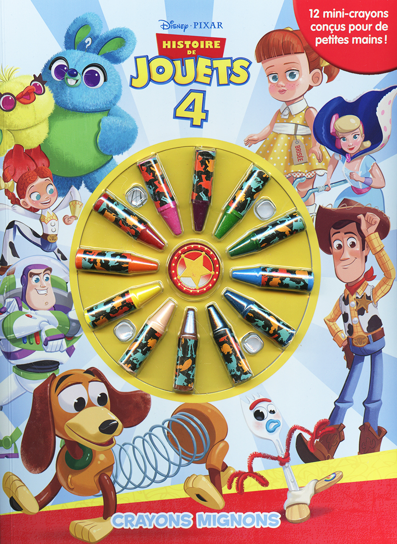 TOYS STORY -  CRAYONS MIGNONS - CAHIER À COLORIER AVEC CRAYONS -  TOYS STORY 4