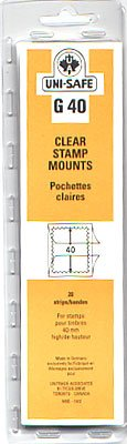 UNI-SAFE -  CLEAR STAMP MOUNTS G40 (PACK OF 20)
