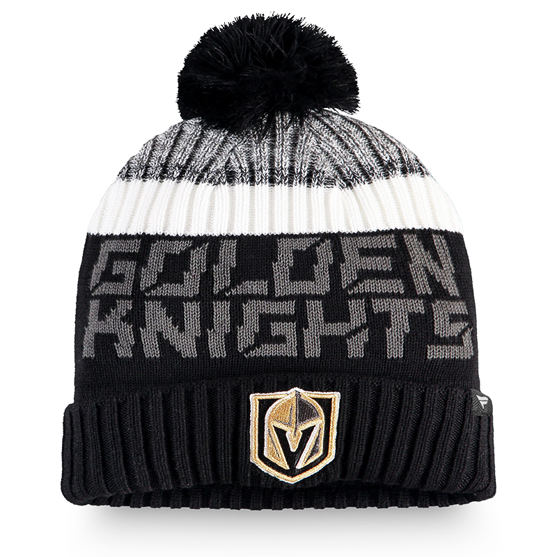 VEGAS GOLDEN KNIGHTS -  BEANIE WITH POMPOM - BLACK
