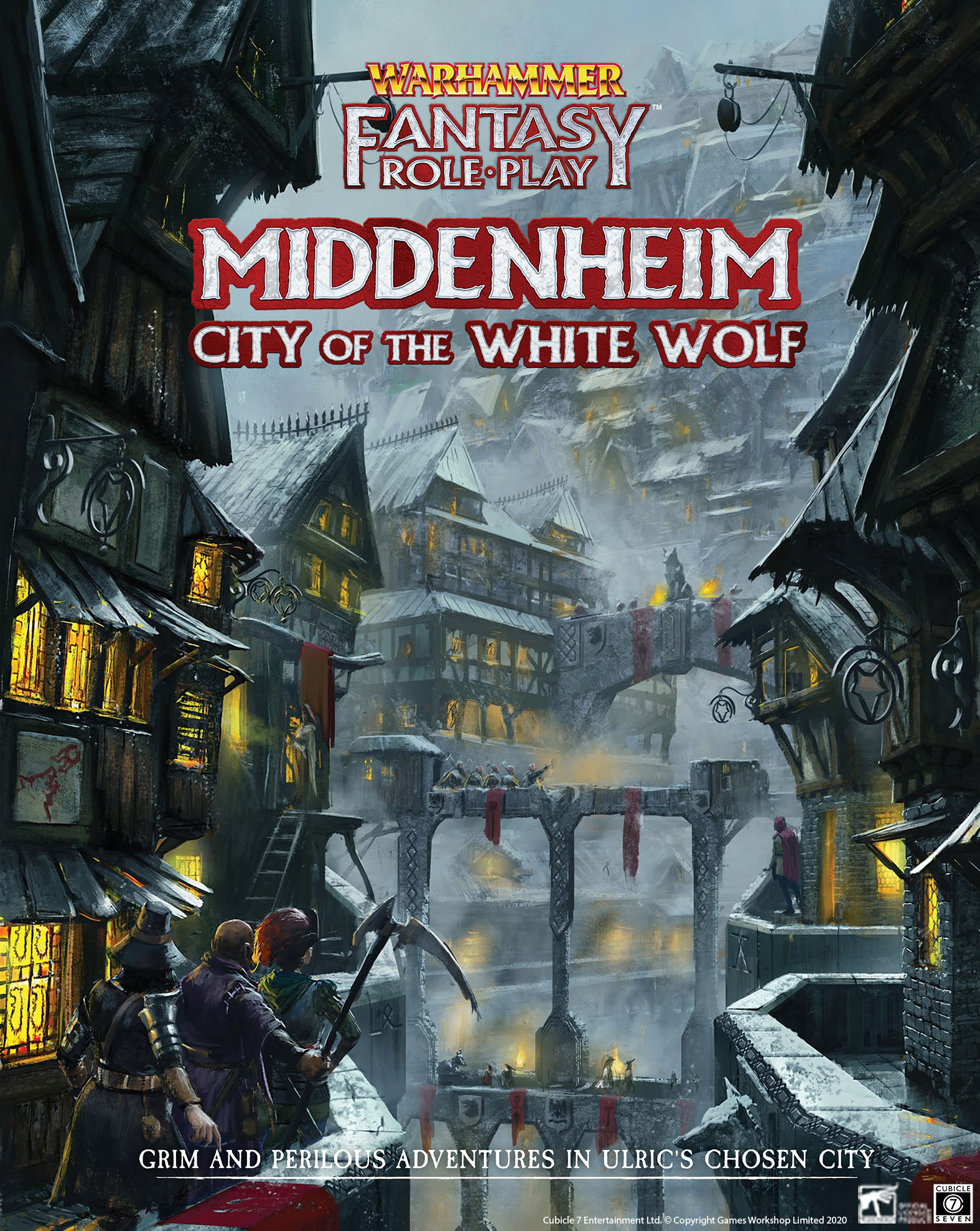 WARHAMMER FANTASY ROLE PLAY -  MIDDENHEIM CITY OF THE WHITE WOLF HC (ENGLISH)