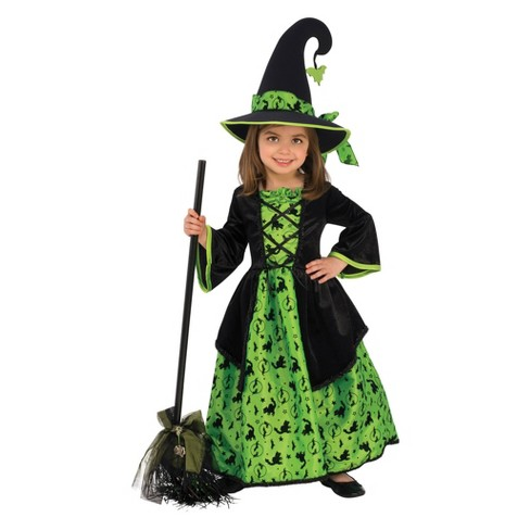 WITCH -  GREEN WITCH COSTUME (CHILD)
