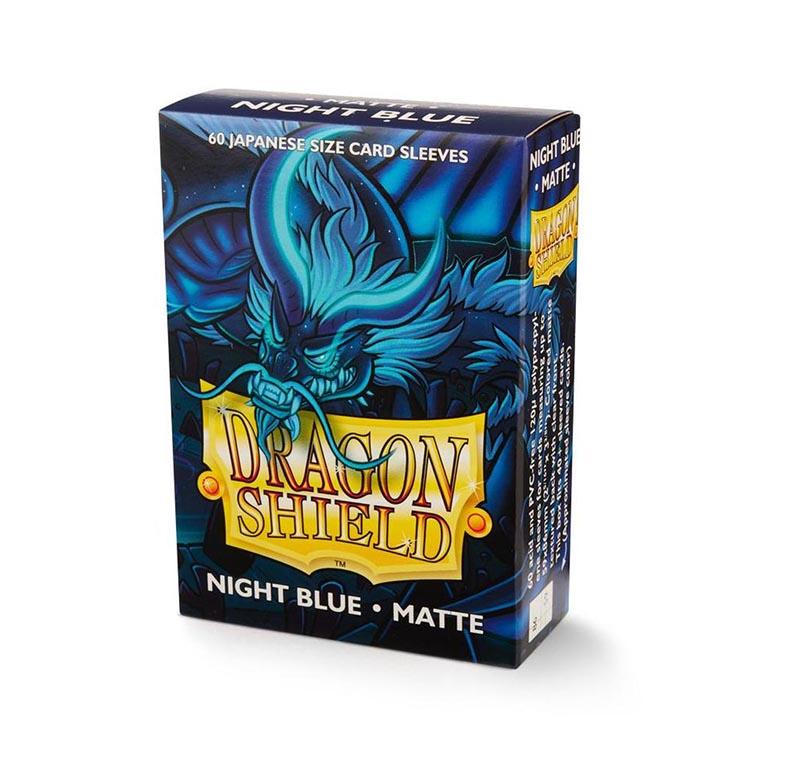 YU-GI-OH! SIZE SLEEVES -  DRAGON SHIELDS - 60 - NIGHT BLUE - MATTE