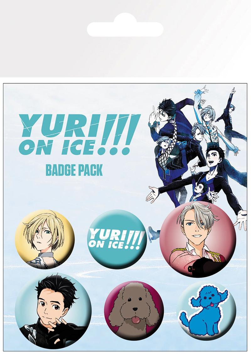 YURI!!! ON ICE -  SET OF 6 PINS