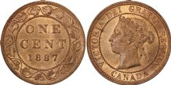 1-CENT -  1887 1-CENT (MS-63) -  1887 CANADIAN COINS
