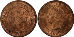 1-CENT -  1888 1-CENT (MS-62) -  1888 CANADIAN COINS