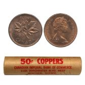 1-CENT -  1965 1-CENT ORIGINAL ROLL -  1965 CANADIAN COINS
