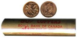 1-CENT -  1972 1-CENT ORIGINAL ROLL -  1972 CANADIAN COINS