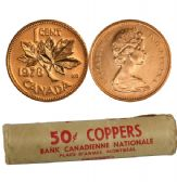 1-CENT -  1978 1-CENT ORIGINAL ROLL -  1978 CANADIAN COINS