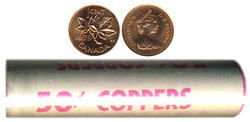 1-CENT -  1979 1-CENT ORIGINAL ROLL -  1979 CANADIAN COINS