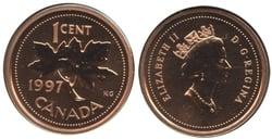 1-CENT -  1997 1-CENT - SPECIMEN (SP) -  1997 CANADIAN COINS