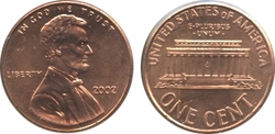 1-CENT -  2002 1-CENT -  2002 UNITED STATES COINS