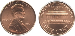 1-CENT -  2007 1-CENT (BU) -  2007 UNITED STATES COINS
