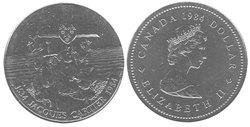 1-DOLLAR -  1984 1-DOLLAR - JACQUES CARTIER - BRILLIANT UNCIRCULATED (BU) -  1984 CANADIAN COINS
