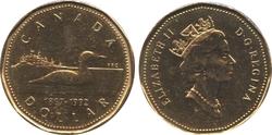 1-DOLLAR -  1992 1-DOLLAR - BRILLIANT UNCIRCULATED (BU) -  1992 CANADIAN COINS