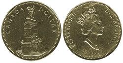 1-DOLLAR -  1994 1-DOLLAR - REMEMBRANCE - BRILLIANT UNCIRCULATED (BU) -  1994 CANADIAN COINS