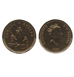 1-DOLLAR -  1995 1-DOLLAR - PEACEKEEPING - BRILLIANT UNCIRCULATED (BU) -  1995 CANADIAN COINS
