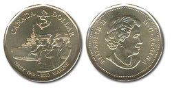 1-DOLLAR -  2010 1-DOLLAR - 100TH ANNIV. OF THE NAVY - BRILLIANT UNCIRCULATED (BU) -  2010 CANADIAN COINS