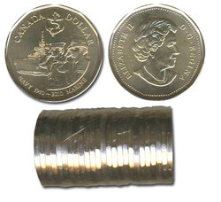 1-DOLLAR -  2010 1-DOLLAR ORIGINAL ROLL - 100TH ANNIVERSARY OF THE CANADIAN NAVY -  2010 CANADIAN COINS