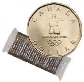 1-DOLLAR -  2010 1-DOLLAR ORIGINAL ROLL - LUCKY LOONIE -  2010 CANADIAN COINS
