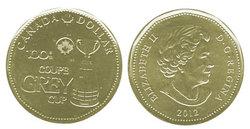 1-DOLLAR -  2012 1-DOLLAR - GREY CUP - BRILLIANT UNCIRCULATED (BU) -  2012 CANADIAN COINS
