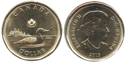 1-DOLLAR -  2013 1-DOLLAR - BRILLIANT UNCIRCULATED (BU) -  2013 CANADIAN COINS