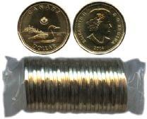 1-DOLLAR -  2014 1-DOLLAR ORIGINAL ROLL -  2014 CANADIAN COINS