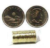 1-DOLLAR -  2015 1-DOLLAR ORIGINAL ROLL -  2015 CANADIAN COINS