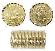 1-DOLLAR -  2016 1-DOLLAR ORIGINAL ROLL -  2016 CANADIAN COINS