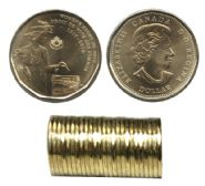 1-DOLLAR -  2016 1-DOLLAR ORIGINAL ROLL - WOMEN'S RIGHT TO VOTE -  2016 CANADIAN COINS