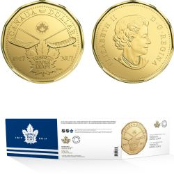 1-DOLLAR -  2017 1-DOLLAR -  100TH ANNIVERSARY OF THE TORONTO MAPLE LEAFS(TM) - SET OF FIVE COINS -  2017 CANADIAN COINS