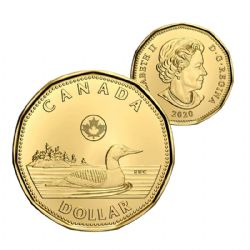 1-DOLLAR -  2020 1-DOLLAR - BRILLIANT UNCIRCULATED (BU) -  2020 CANADIAN COINS