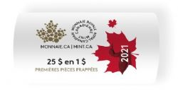 1-DOLLAR -  2021 CLASSIC 1-DOLLAR ORIGINAL ROLL (SPECIAL WRAPPING) -  2021 CANADIAN COINS