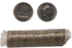 10-CENT -  1992 10-CENT ORIGINAL ROLL -  1992 CANADIAN COINS