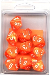 10 DICE, 10-SIDERS, SOLAR WITH WHITE -  VORTEX