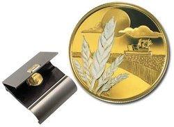 100 DOLLARS -  100TH ANNIVERSARY OF DISCOVERY MARQUIS WHEAT -  2003 CANADIAN COINS 28