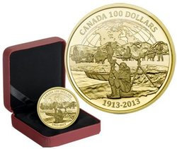 100 DOLLARS -  100TH ANNIVERSARY OF THE CANADIAN ARCTIC EXPEDITION -  2013 CANADIAN COINS 38