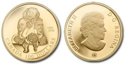 100 DOLLARS -  10TH ANNIVERSARY OF NUNAVUT -  2009 CANADIAN COINS 34