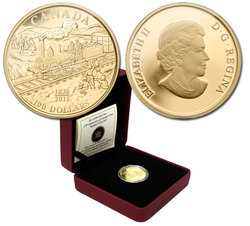 100 DOLLARS -  175TH ANNIVERSARY OF CANADA'S FIRST RAILWAY -  2011 CANADIAN COINS 36