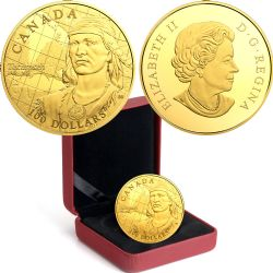 100 DOLLARS -  250TH ANNIVERSARY OF THE BIRTH OF TECUMSEH -  2018 CANADIAN COINS 43