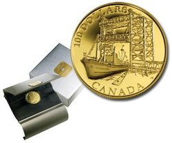 100 DOLLARS -  50TH ANNIVERSARY OF THE CONSTRUCTION OF THE ST. LAWRENCE SEAWAY -  2004 CANADIAN COINS 29