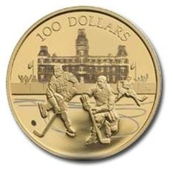 100 DOLLARS -  75TH ANNIVERSARY OF THE WORLD'S LONGEST HOCKEY SERIES -  2006 CANADIAN COINS 31