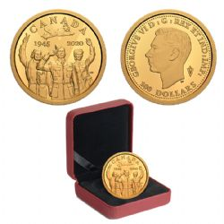 100 DOLLARS -  75TH ANNIVERSARY OF V-E DAY: THE ROYAL CANADIAN AIR FORCE -  2020 CANADIAN COINS 45