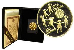 100 DOLLARS -  INTERNATIONAL YEAR OF THE CHILD -  1979 CANADIAN COINS 04
