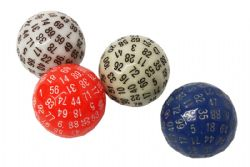 100 SIDED DICE GLOW IN THE DARK