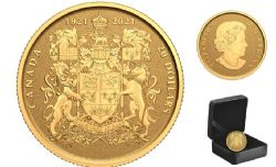100TH ANNIVERSARY OF CANADA'S COAT OF ARMS -  2021 CANADIAN COINS